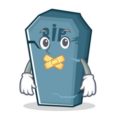 Silent tombstone character cartoon object vector