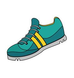 Single sneaker icon image vector