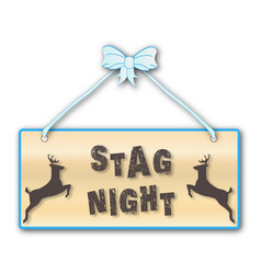 Stag night vector