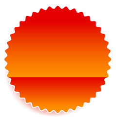 starburst shaped badge button shape with vector image