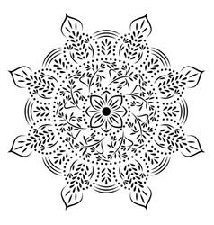 Stencil mandala vector