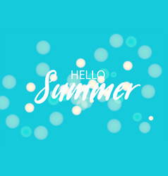 summer blured handwritten lettering bnner vector image