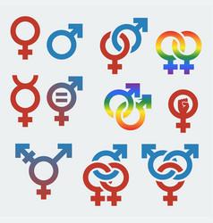 Symbols sexual orientation and gender vector