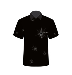 T-shirt with the image of the shot vector image