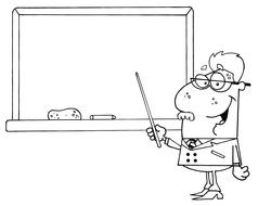 Teacher in classroom cartoon vector