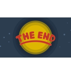 The end background vector