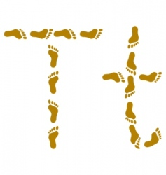 traces letter t vector image