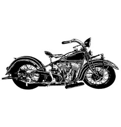 vintage american made motorcycle vector image