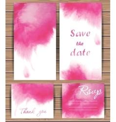 Wedding card templates vector