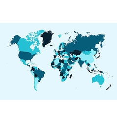 World map blue countries EPS10 file vector