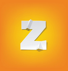 Z lowercase letter fold english alphabet new vector