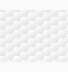 Abstract white futuristic honeycomb cell pattern vector