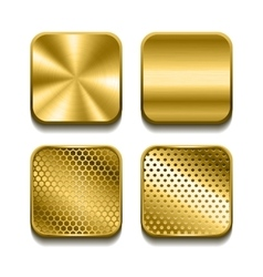 Apps metal icon set vector image vector image