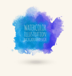 blue watercolor hand drawn isolated wash vector image