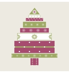 Christmas tree gifts card background vector