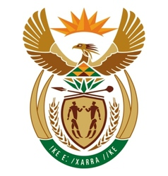 coat of arms of South Africa vector image vector image