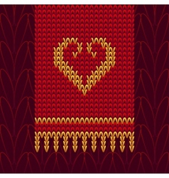Color Knitted Wool Heart vector image vector image