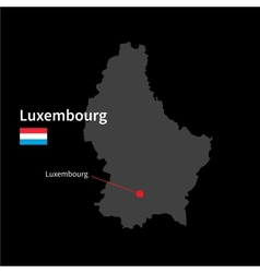 Detailed map of Luxembourg and capital city vector image