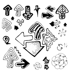 Doodle Sketch Hand Drawn Arrows Set vector image vector image