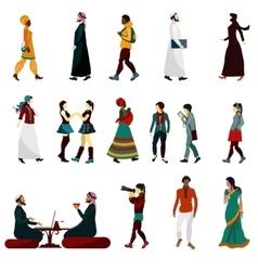 Eastern People Set vector image vector image