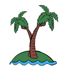 palm tree icon cartoon vector image