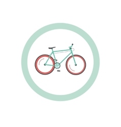 Bicycle cycling road sign vector image vector image
