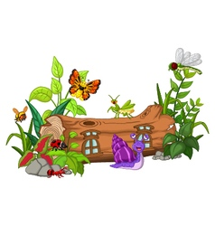 collection of insects cartoon vector image