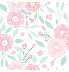 cute pink peony seamless pattern vector image