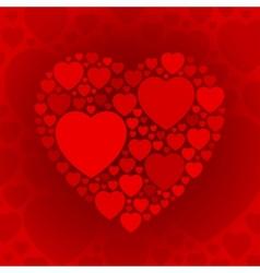Dark red heart shape on maroon background vector