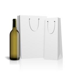 mockup wine bottle design vector image vector image