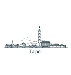 outline taipei banner vector image
