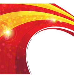 Red and yellow concentric background vector image vector image
