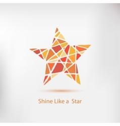 Shine like a star Handdrawn star element vector image vector image