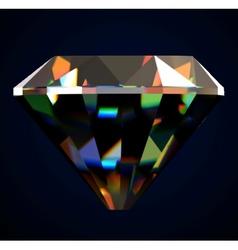Shiny and bright diamond vector image vector image