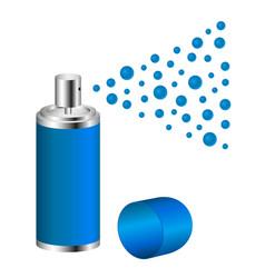 Spray in blue design vector
