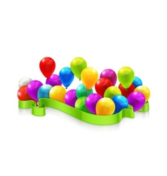 Toy balloons vector image vector image