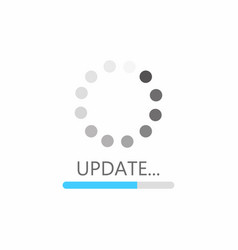update icon system software upgrade concept vector image