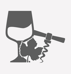 wineglass icon image vector image vector image