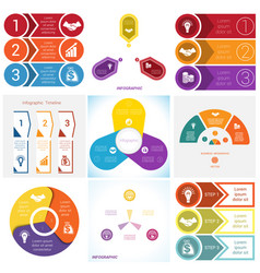 collections infographics elements template 3 vector image vector image