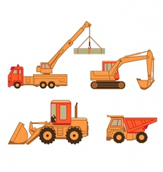 construction cars vector image