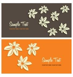 floral card background vector image