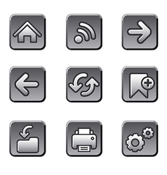 Web navigation buttons set vector image vector image