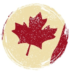 Canadian grunge flag Grunge effect can be cleaned vector image
