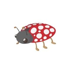 Ladybug icon cartoon style vector image vector image