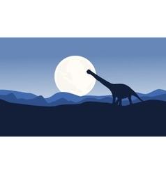 Scenery argentinosaurus on desert vector