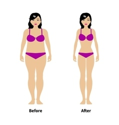 a concept of weight loss vector image