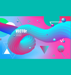 abstract gradients waves background colorful vector image