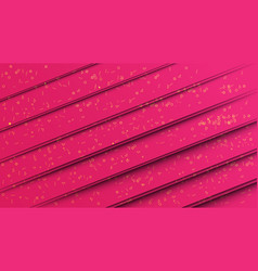 abstract pink paper cut style background with vector image