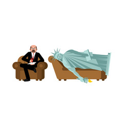 American depression statue of liberty at vector