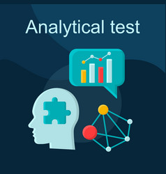 Analytical test flat concept icon vector